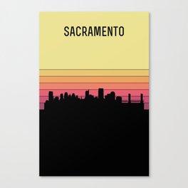 Sacramento Skyline Canvas Print