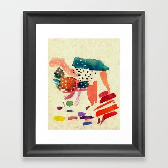 End of rain Framed Art Print