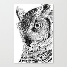 Ink Owl Canvas Print