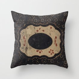 Vintage Japanese lacquer box pattern Throw Pillow