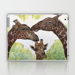Giraffe Love by Maureen Donovan Laptop & iPad Skin