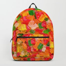Gummy Bears Real Candy Pattern Backpack