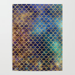 Bedazzled Mermaid Scales Poster
