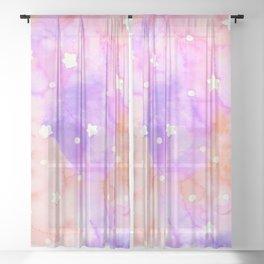 Starry Sky Raspberry Milkshake Sheer Curtain