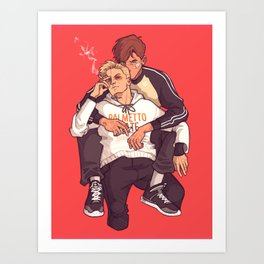 Smoking - Andrew & Neil Art Print
