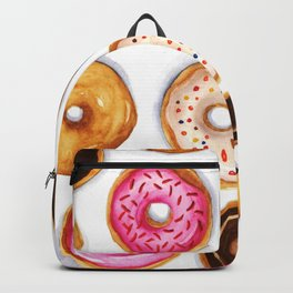 Donut pattern in watercolor Backpack
