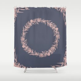 Dawn of Flowers, Rose. Shower Curtain