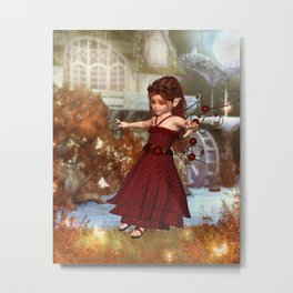 Autumn Fairy Metal Print