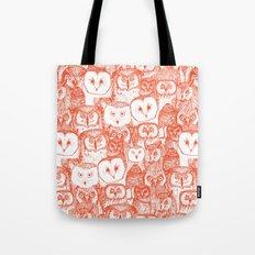 just owls flame orange Tote Bag