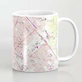 Vintage Map of San Fernando California (1966) Coffee Mug