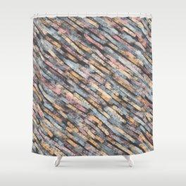 Dark Autumn Organic Texures Shower Curtain