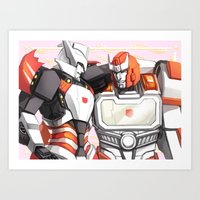 transformers Art Prints featuring TRANSFORMERS: Amica by alfheimr