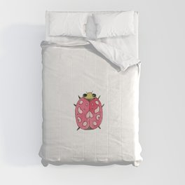 Red insect   Entomology watercolor art Comforters