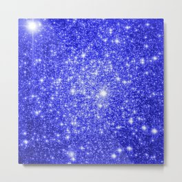 Royal Blue GAlAXY Stars Metal Print