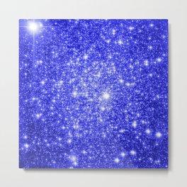 Royal Blue GAlAXY Stars Metal Print