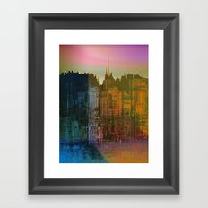 Lights close to the Harbor / Urban Fantasy 14-01-17 Framed Art Print