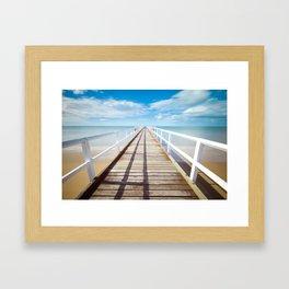 Boardwalk on the Beach Framed Art Print