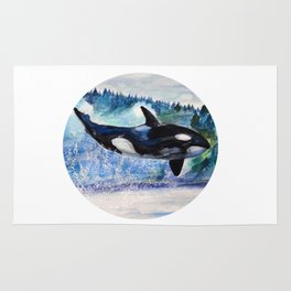 Whale of Freedom Rug