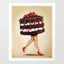 Cake Girl - 2 Art Print