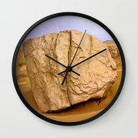 30 rock Wall Clocks featuring THE ROCK by Bruce Stanfield