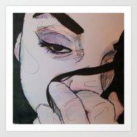 Grito de ballena Art Print