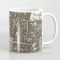 london map Mugs featuring London Map by Zeke Tucker