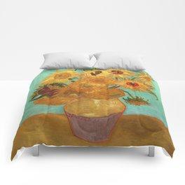 Vincent Van Gogh Twelve Sunflowers In A Vase Comforters