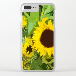 sunflower. amsterdam Clear iPhone Case
