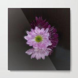 Floral Reflection Metal Print