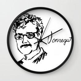 Kurt Vonnegut Author Portrait Wall Clock