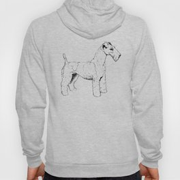 Wire Haired Fox Terrier Ink Drawing Hoody