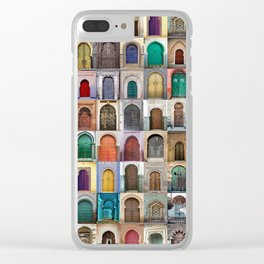 Moorish Doors Montage Clear iPhone Case
