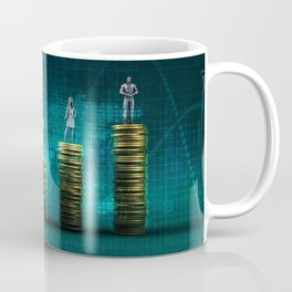Business Chart Abstract Background Financial People Theme Coffee Mug