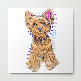 The happy Yorkie Love of My Life - doggie keeps you smiling! Metal Print