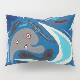 Parasites in Blue Pillow Sham