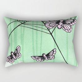 pink moths Rectangular Pillow