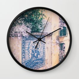 Lemon Trees and Tiles Wall Clock