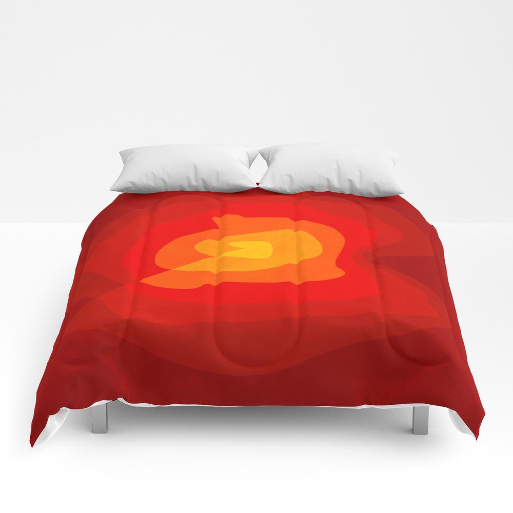 Red Vibrations Comforter by Anaigreog CMF8482258