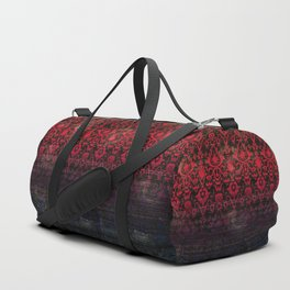 -A12- Red Blue Gardient Colored Moroccan Artwork. Duffle Bag