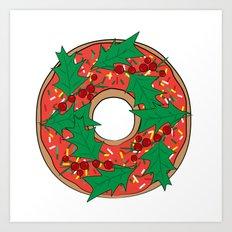 Christmas doughnut, donut Art Print