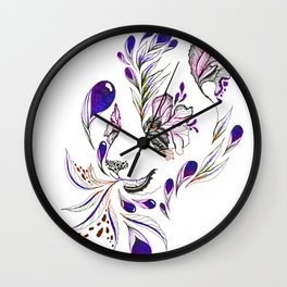 Hidden panda Wall Clock