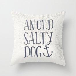 An Old Salty Dog Throw Pillow