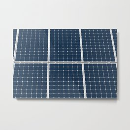 Image Of A Solar Power Panel. Free Clean Energy For Everyone Metal Print
