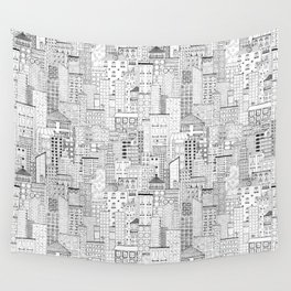 City Doodle (day) Wall Tapestry