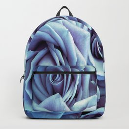 Ice Blue Periwinkle Roses / Flowers Backpack