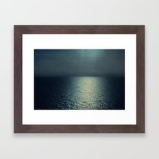 sea - sunset blue Framed Art Print