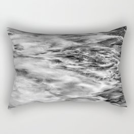 Drama On The Rocks (B&W) Rectangular Pillow