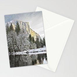 El Capitan & Merced River, Winter Stationery Cards