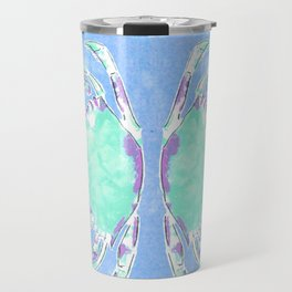 Watercolor blue crab Travel Mug