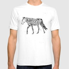 Life is like riding a horse Mens Fitted Tee White SMALL